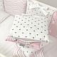 Комплект постельного белья в стандартную кроватку Shine Алиса розовый ТМ «Маленькая Соня», фото 10