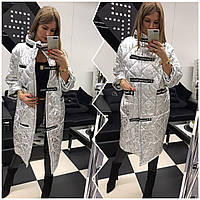 Новинка!! Модная куртка цвета серебро., фото 1