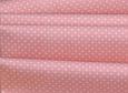 Сатин (хлопковая ткань) горох мелкий на розовом (новый), фото 3