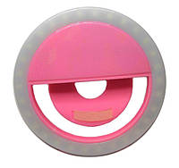 Вспышка-подсветка для телефона селфи-кольцо - Розовый