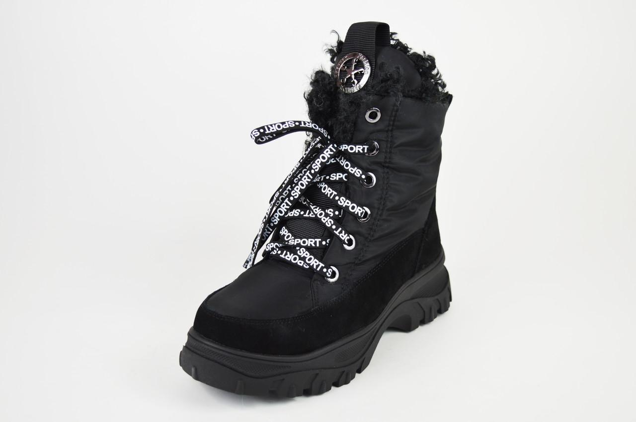Ботинки женские на платформе черные Lonza 3951939