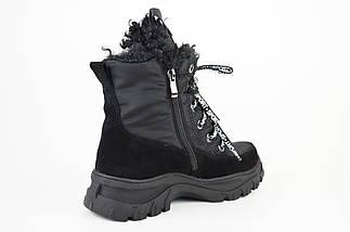 Ботинки женские на платформе черные Lonza 3951939, фото 2