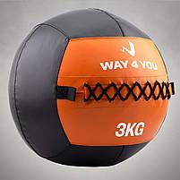 Набивний м'яч Wall Ball (медбол) Way4you 3кг, фото 2