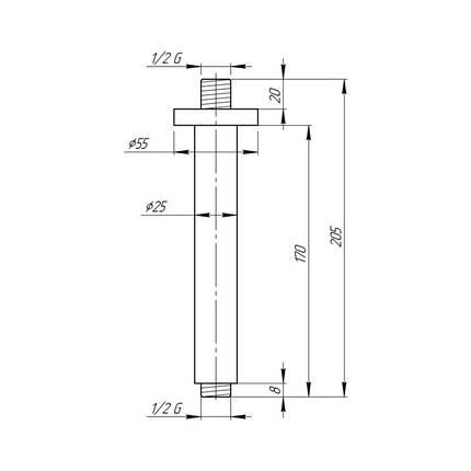 Кронштейн для верхнего душа Q-tap 0012 CRM, фото 2