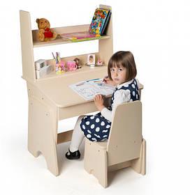 """Детская парта стол со стулом и надстройкой регулируемые """"Соня"""""""