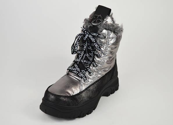Ботинки женские на платформе серебристые Lonza 3951939, фото 2