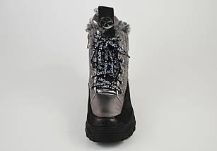 Ботинки женские на платформе серебристые Lonza 3951939, фото 3