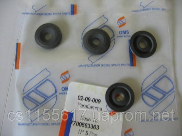 Уплотнительное кольцо форсунки OMS 7700663363 на BMW 3, BMW 5, Opel Astra, Opel Vectra, Renault 18; 19; 20; 21