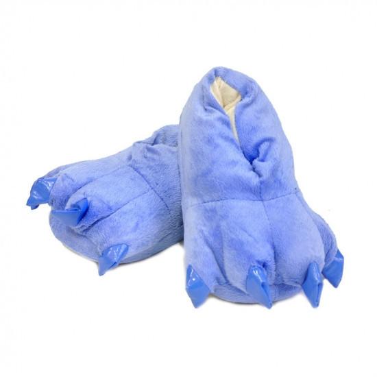 Домашние тапочки лапки кигуруми Синие