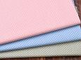 Сатин (хлопковая ткань) горох мелкий  на голубом (новый), фото 3
