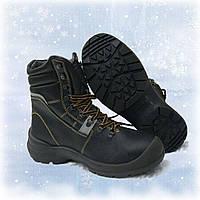 Рабочие ботинки кожаные, на меху REIS PANDA