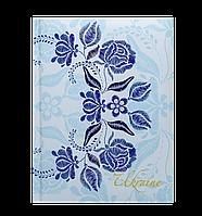 Блокнот TRACERY, А-5, 80л., кл., тв. обл., глян. лам. с поролоном, синий