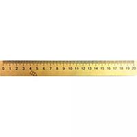 Лінійка дерев'яна 20 см (шовкографія)