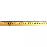 Лінійка дерев'яна 25 см (шовкографія)