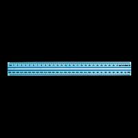 Лінійка пластикова 30см, з тримачем, в блістері