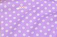Сатин (хлопковая ткань) горох средний на фиолетовом, фото 3