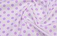 Сатин (хлопковая ткань) горох средний фиолетовый, фото 2