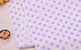 Сатин (хлопковая ткань) горох средний фиолетовый, фото 3