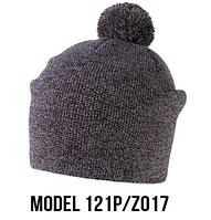 Шапка Ozzi pompon № 121P, шапка с балабоном розовый/zo17