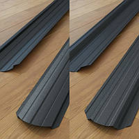 Штакетник Черный Корея двухсторонний рал 9005 мат 0,5 мм