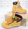 """Женские демисезонные ботинки Timberland 6 inch Boots """"Yellow"""" / Тимберленд, желтые, без меха - Фото"""