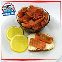 Спинки лосося слабосоленые без шкуры и костей 250г