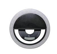 Вспышка-подсветка для телефона селфи-кольцо - Черный
