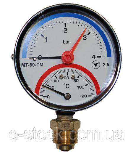 Термоманометр радиальный МТ–80–ТМ-Р
