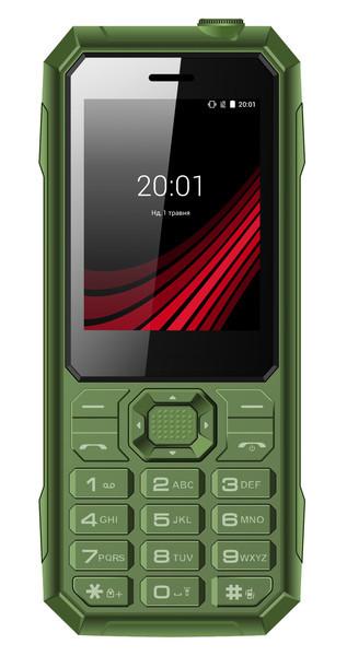 Мобильный телефон ERGO F248 Defender DS Green Гарантия 12 месяцев