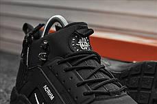 """Зимние кроссовки на меху Nike Air Huarache """"Черные"""", фото 2"""