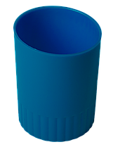 Стакан пласт. для письменных принадлежностей JOBMAX синий