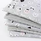 Плед и подушка с усатыми котами серого цвета, фото 2