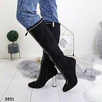 Женские замшевые демисзеонные сапоги, А 5851, фото 1