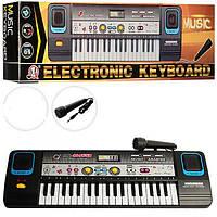 Детский синтезатор MQ869, USB, 37клавиш, микрофон, запись, USB вход, МР3, в кор-ке, 47-14-6см