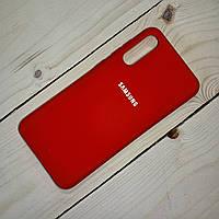 Силиконовый чехол Silicone Case Samsung Galaxy A50 (2019) Красный