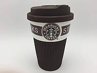 """Стакан с крышкой  """"Starbucks coffi"""" 350мл. (коричневый), фото 1"""