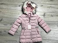 Зимнее пальто на синтепоне, со съемным капюшоном. Внутри мех-травка. 3/4 года., фото 1