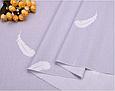 Сатин (хлопковая ткань) перышки на сером (компаньон) (95*160), фото 2