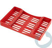 Кассета пластиковая для автоклавирования инструмента, на 10 инструментов