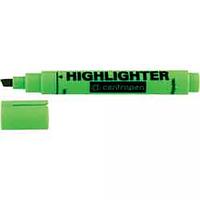 Текст-маркер флуорісцентний Fax клиновидний 1-4,6мм, жовтий