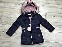 Зимнее пальто на синтепоне, со съемным капюшоном. Внутри мех-травка. 3- 6 лет., фото 1