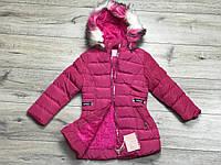 Зимнее пальто на синтепоне, со съемным капюшоном.  Внутри мех-травка. 3- 6 лет.