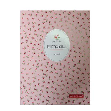Блокнот PICCOLI, А-5, 80л., клетка, интегральнная обложка, светло-розовый, фото 2
