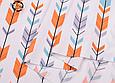 Сатин (хлопковая ткань) стрелы компаньон к лисьим мордочкам, фото 3