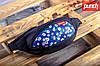 Поясная сумка PUNCH - Black/Cammomile Blue, бананка, сумка на пояс черно-синяя с рисунком