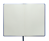 Блокнот деловой BRIEF LOGO2U А5, 96л., клетка, обложка искусственная кожа, черный, фото 3