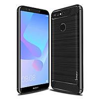 Защитный чехол iPaky Slim с карбоновыми вставками для Huawei Honor 7A Pro / Y6 Prime 2018 (выбор цвета)