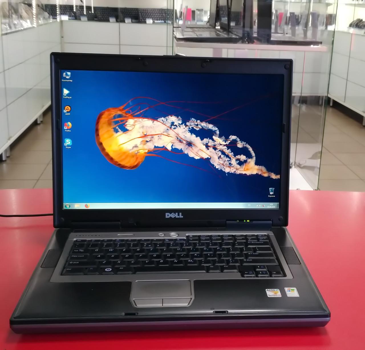 """Ноутбук Dell Latitude D 531 14.1"""" AMD Turion X2 TL60 2.0 GHz 2 GB RAM 250 GB HDD Silver Б/У"""