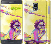 "Чехол на Samsung Galaxy Note 4 N910H Нарисованная девушка ""2835c-64"""