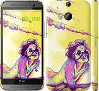 "Чехол на HTC One M8 Нарисованная девушка ""2835c-30"""